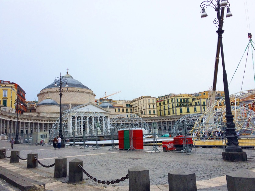 Piazza del Plebiscito: work in progress