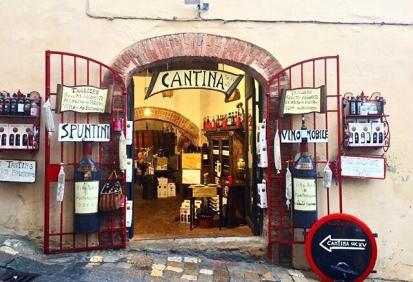Una cantina a Montepulciano
