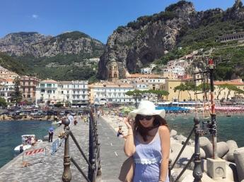 Il molo panoramico di Amalfi