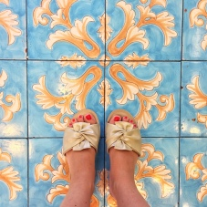 Il pavimento della pasticceria La Zagara