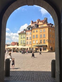 La vista sulla Piazza del Castello