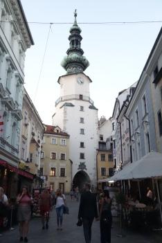 L'incipit del centro storico di Bratislava