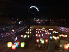 Piazza e parco Erzsebet di notte