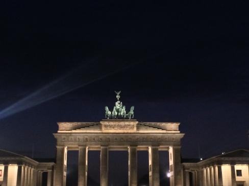 La Porta di Brandeburgo by night