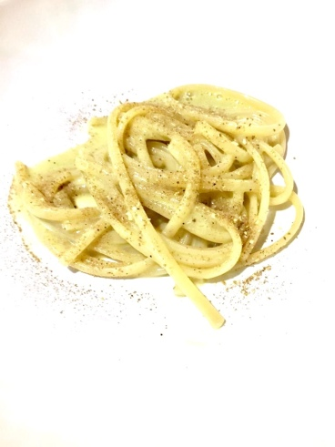 Linguine, pistacchio e liquamen