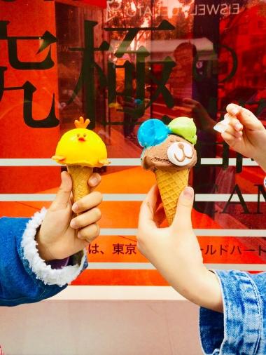 Il gelato colorato di Takeshita Dori
