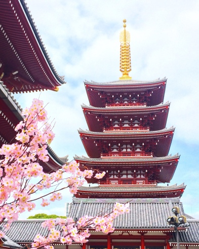 La meravigliosa pagoda del tempio Sensoji