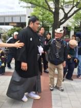 Lottatori di sumo veri idoli